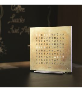 QlockTwo Touch Tischuhr silver & gold