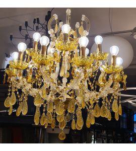 Venezia Hängeleuchte gold - Schauraum Sale