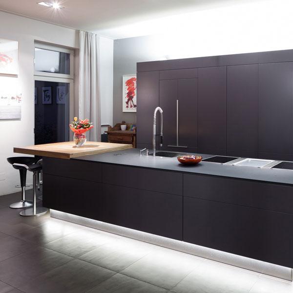 LED-Profile als pefekte Küchenbeleuchtung
